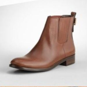 Tory Burch Wade Brown Leather Ankle Boots